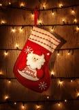 Calcetín rojo de la Navidad Fotos de archivo