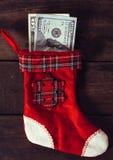 Calcetín rojo de la Navidad Imágenes de archivo libres de regalías