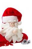 Calcetín rojo festivo imagen de archivo libre de regalías