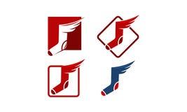 Calcetín Wing Template Imágenes de archivo libres de regalías