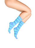 Calcetines azules Foto de archivo