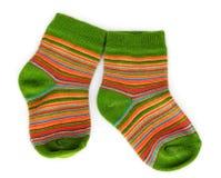 Calcetines brillantes del bebé Imágenes de archivo libres de regalías