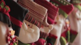 Calcetines de la Navidad almacen de video