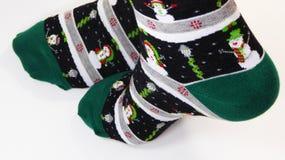 Calcetines de la Navidad Foto de archivo libre de regalías