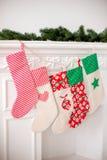 Calcetines de la Navidad Fotografía de archivo libre de regalías