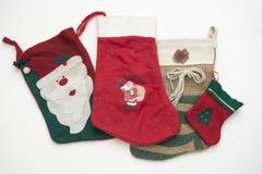 Calcetines de la Navidad Fotografía de archivo