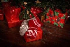 Calcetines de la Navidad Fotos de archivo