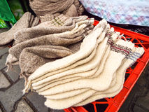 Calcetines de lana Imagen de archivo libre de regalías