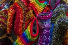 Calcetines de las lanas de todos los colores Fotos de archivo