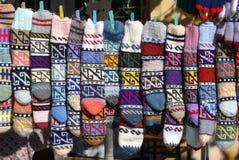 Calcetines de las lanas en venta Fotografía de archivo