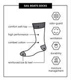 Calcetines de los barcos de vela ilustración del vector