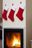 Calcetines de Papá Noel Foto de archivo libre de regalías