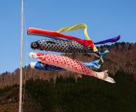 Calcetines de viento japoneses del koi Fotos de archivo