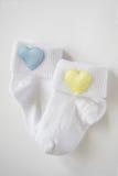 Calcetines del bebé Fotografía de archivo libre de regalías