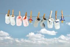 Calcetines del bebé Imagenes de archivo