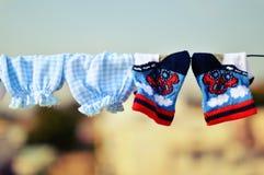Calcetines del bebé Foto de archivo libre de regalías