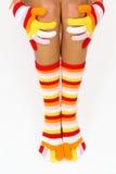 Calcetines del color Fotografía de archivo