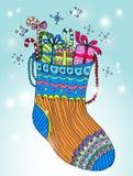 Calcetines del color de Navidad Fotografía de archivo libre de regalías