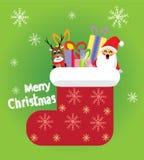 Calcetines del rojo de la Navidad Foto de archivo