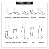 Calcetines del vector fijados stock de ilustración