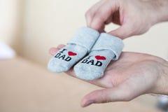 Calcetines hechos a mano Fotos de archivo libres de regalías