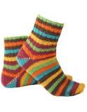 Calcetines hechos punto del hilado coloreado Imagen de archivo libre de regalías