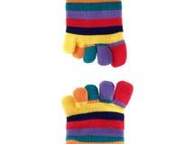 Calcetines largos coloridos Foto de archivo libre de regalías