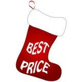 Calcetines lindos de la Navidad Fotografía de archivo