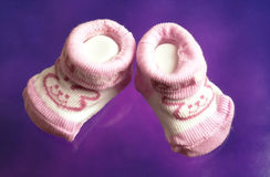 Calcetines lindos del bebé Foto de archivo libre de regalías