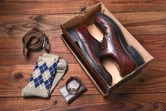 Calcetines para hombre de la correa de los zapatos Imagen de archivo libre de regalías