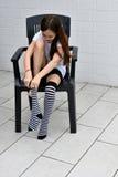 Calcetines rayados Foto de archivo