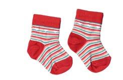 Calcetines rayados del niño Foto de archivo