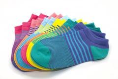 Calcetines rayados del tobillo Imagen de archivo
