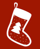 Calcetines rojos de la Navidad Imágenes de archivo libres de regalías