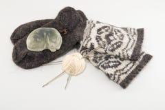 Calcetines y jabón de las lanas Imágenes de archivo libres de regalías