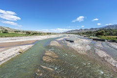 Calchaqui River in Salta, northern Argentina. Royalty Free Stock Photography