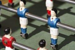 Calciatore blu in giocattolo Immagine Stock