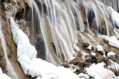Calcified waterfall in jiuzhaigou Royalty Free Stock Image