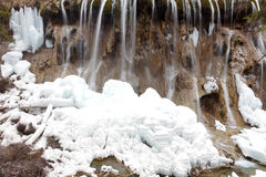Calcified waterfall in jiuzhaigou Stock Photo
