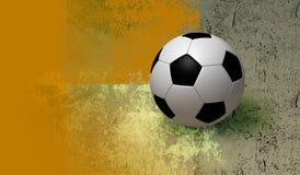 calcio 3D e priorità bassa Fotografia Stock Libera da Diritti