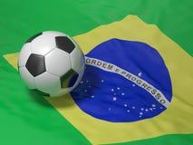 Calcio brasiliano Fotografia Stock Libera da Diritti
