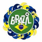Calcio brasiliano Team Badge Fotografia Stock Libera da Diritti