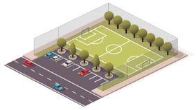 Calcio/campo da calcio isometrici di vettore Fotografia Stock