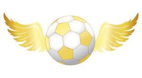 Calcio con le ali illustrazione di stock