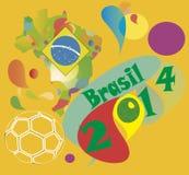 Calcio 2014 del Brasile Fotografia Stock Libera da Diritti