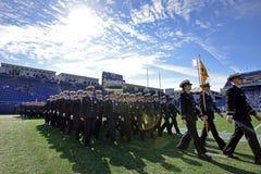 2015 calcio del NCAA - Florida del sud alla marina Immagine Stock