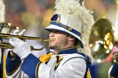 2015 calcio del NCAA - GA @ WVU del sud Fotografia Stock