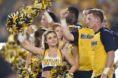 2015 calcio del NCAA - GA @ WVU del sud Fotografie Stock Libere da Diritti