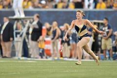 2015 calcio del NCAA - GA @ WVU del sud Immagini Stock