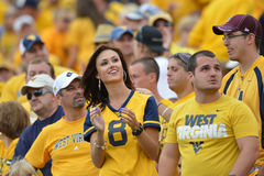 2015 calcio del NCAA - Maryland @ WVU Fotografie Stock